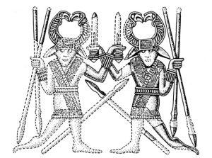 Pressblech-Motiv vom Sutton Hoo Helm, England